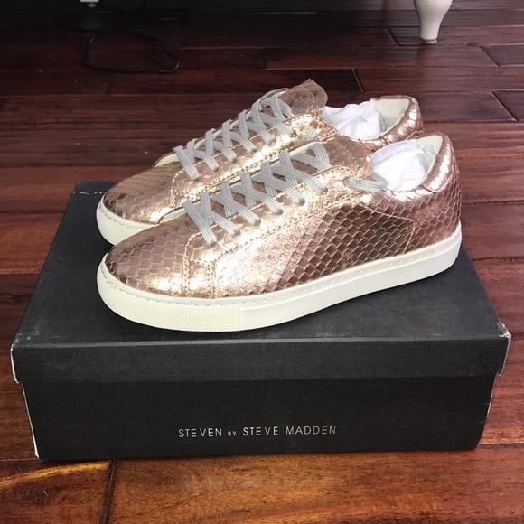 de8d560659b Peyton Rose Gold Steve Madden Sneakers